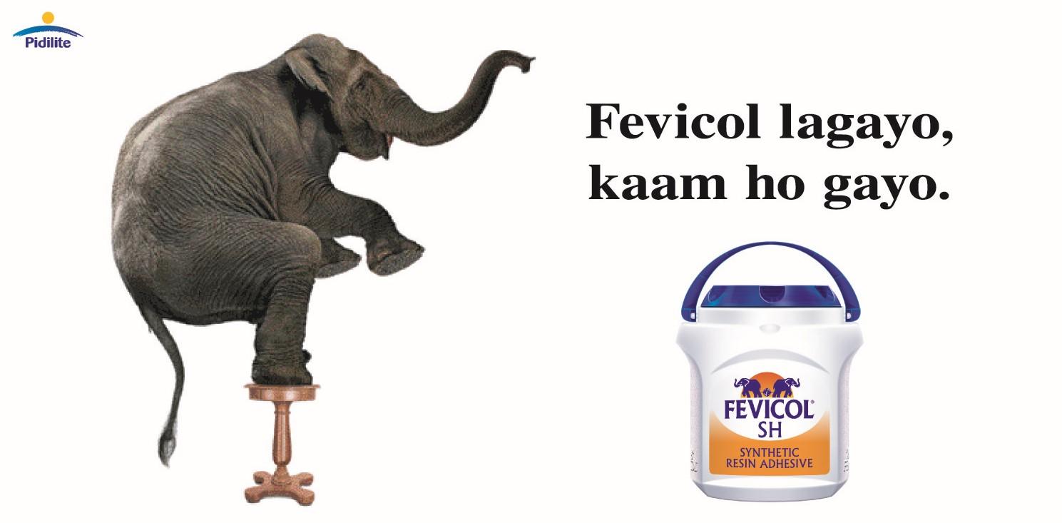Fevicol Elephant Fevicol Lagayo Kaam Ho Gayo Pidilite